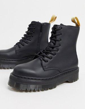 Черные ботинки из искусственной кожи -Черный Dr Martens