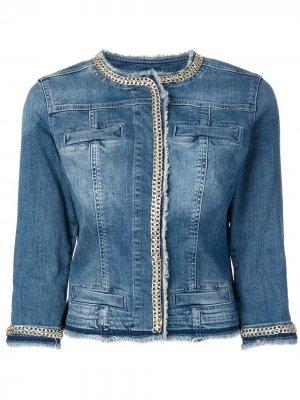 Джинсовая куртка LIU JO. Цвет: синий