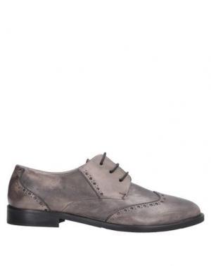 Обувь на шнурках ALEXANDER HOTTO. Цвет: серый