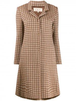 Пальто с орнаментом Romeo Gigli Pre-Owned. Цвет: коричневый