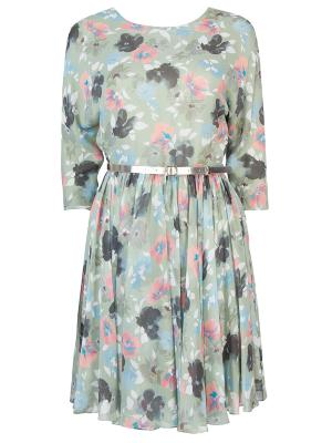 Платье с цветочным принтом TEREKHOV