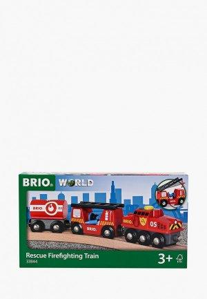 Набор игровой Brio Пожарный поезд, 3 элемента. Цвет: красный