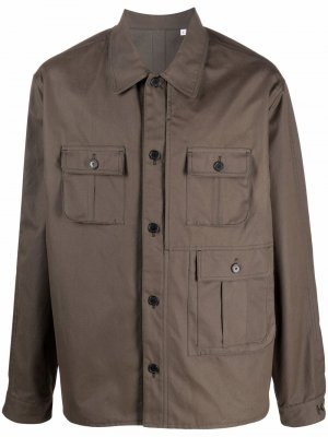 Куртка-рубашка с карманами карго Kenzo. Цвет: коричневый