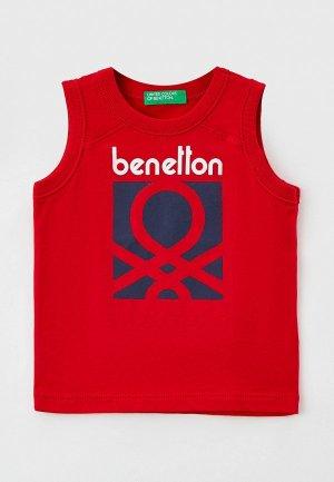 Майка United Colors of Benetton. Цвет: красный