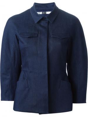 Джинсовая куртка 7 For All Mankind X Giambattista Valli. Цвет: коричневый