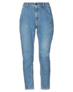 Джинсовые брюки-капри DIESEL BLACK GOLD. Цвет: синий