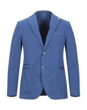 Пиджак BARBATI. Цвет: лазурный