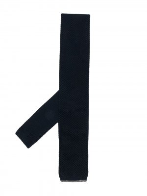 Knitted square-tip tie Brunello Cucinelli. Цвет: синий
