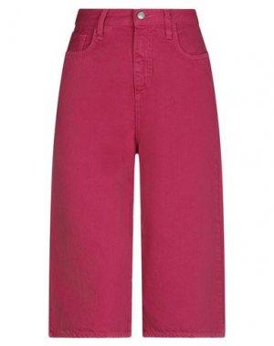 Джинсовые брюки-капри ROŸ ROGER'S. Цвет: светло-фиолетовый