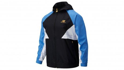 Куртки NB ATHLETICS PODIUM WINDBREAKER New Balance. Цвет: синий