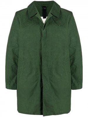 ESQUIRE Green Dry Waxed Cotton Short Coat   GMC-100 Mackintosh. Цвет: зеленый