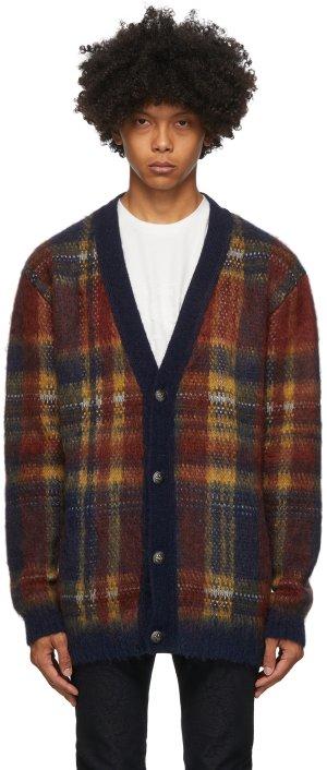 Multicolor Knit Check Cardigan Etro. Цвет: 200 navy