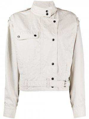 Короткая джинсовая куртка Isabel Marant Étoile. Цвет: нейтральные цвета
