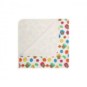 Хлопковое одеяло Moschino. Цвет: белый