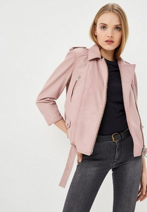 Куртка кожаная Blouson CHIODA OVER NAPPA RUBB OFF. Цвет: розовый