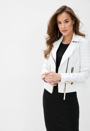 Куртка кожаная Giorgio Di Mare. Цвет: белый