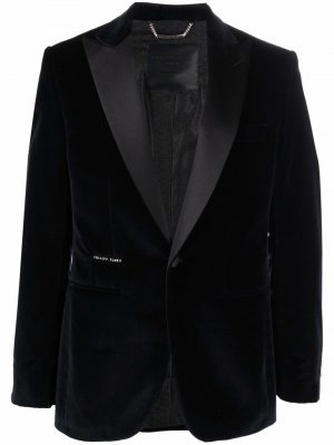 Бархатный пиджак Lord Fit Philipp Plein. Цвет: черный