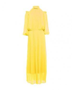 Длинное платье KI6? WHO ARE YOU?. Цвет: желтый