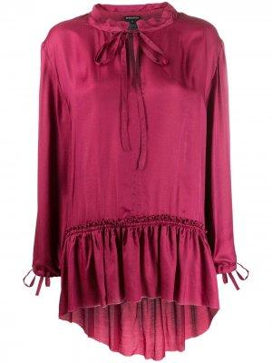 Блузка с оборками Ann Demeulemeester. Цвет: розовый