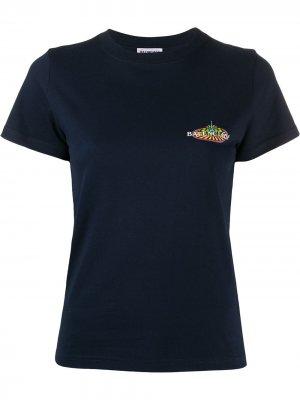 Приталенная футболка Balenciaga. Цвет: синий