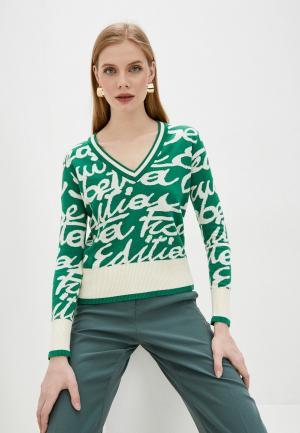 Пуловер Elisabetta Franchi. Цвет: зеленый