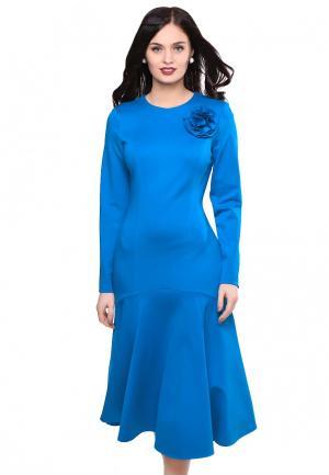 Платье Grey Cat AVGUSTINA. Цвет: голубой
