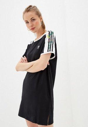 Платье adidas Originals DRESS. Цвет: черный