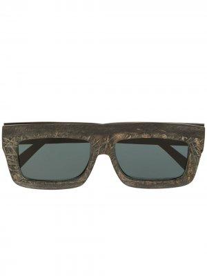 Солнцезащитные очки в квадратной оправе Rigards. Цвет: черный