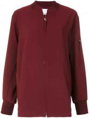 Свободная куртка на молнии T By Alexander Wang. Цвет: красный