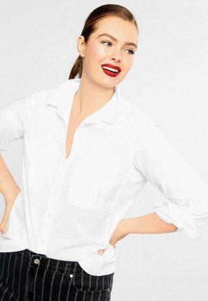 Рубашка Violeta by Mango - PLANA. Цвет: белый