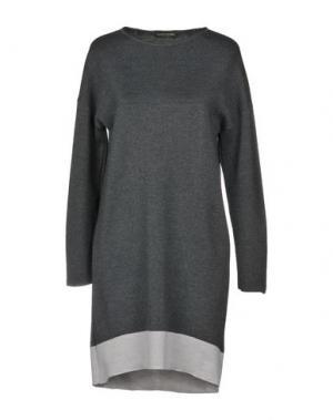 Короткое платье ALESSANDRO. Цвет: серый