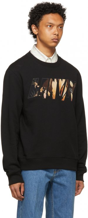 Black Logo Applied Angel Sweatshirt Lanvin. Цвет: 10 black
