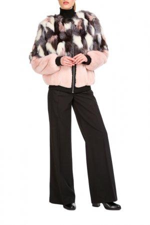 Short fur coat Manakas. Цвет: pink