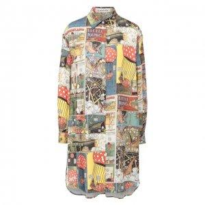 Рубашка Lanvin. Цвет: разноцветный