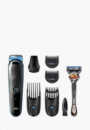 Набор для бритья Braun MGK3245 + Бритва Gillette. Цвет: черный