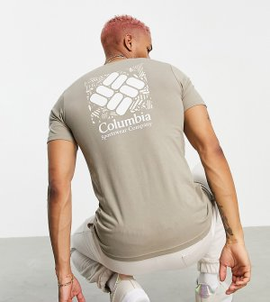 Коричневая футболка с принтом на спине Rapid Ridge – эксклюзивно для ASOS-Коричневый цвет Columbia