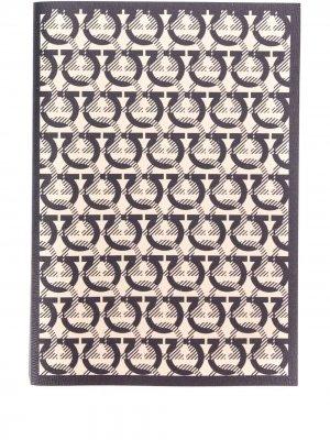 Разлинованный блокнот Salvatore Ferragamo. Цвет: нейтральные цвета