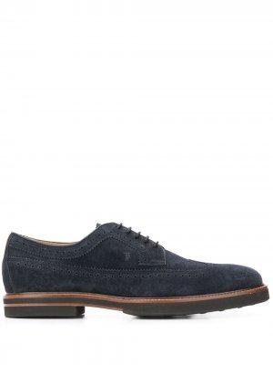 Tods броги на шнуровке Tod's. Цвет: синий