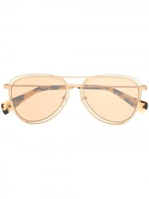 Солнцезащитные очки-авиаторы Yohji Yamamoto. Цвет: золотистый