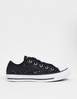 Кроссовки с черными блестками Chuck Taylor All Star Ox-Черный Converse