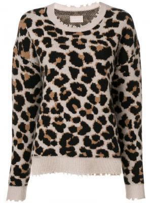 Пуловер Kansas с леопардовым узором Zadig&Voltaire. Цвет: нейтральные цвета