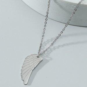 Мужской Ожерелье с пером SHEIN. Цвет: серебряные