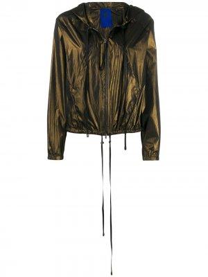 Легкая куртка с капюшоном Ilaria Nistri. Цвет: зеленый
