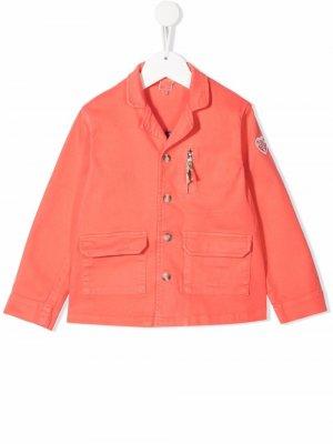 Однобортный пиджак с заостренными лацканами Bonton. Цвет: розовый
