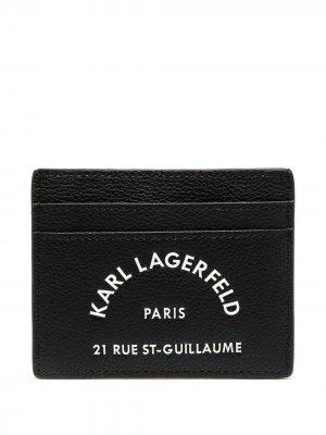 Картхолдер Rue St Guillaume Karl Lagerfeld. Цвет: черный
