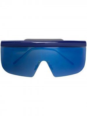 Массивные солнцезащитные очки Connie Jacques Marie Mage. Цвет: синий