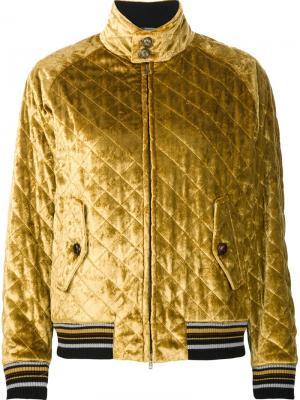Quilted bomber jacket Maison Margiela. Цвет: жёлтый и оранжевый