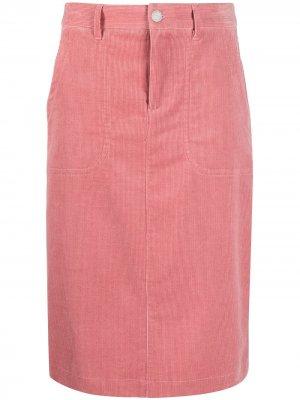 Вельветовая юбка Jennie A.P.C.. Цвет: розовый