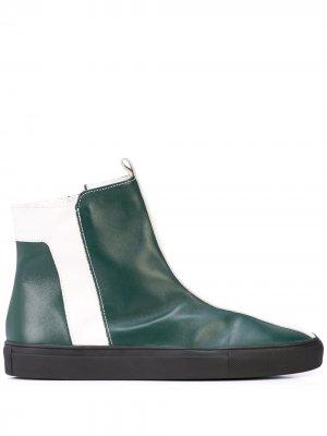 Ботинки с контрастными полосками Alberto Fermani. Цвет: зеленый