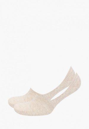Носки 2 пары DIM. Цвет: бежевый